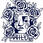 Face with Roses: Women's design but could also be for men. Represents Beauty & Strength